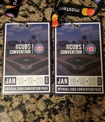 2 ticket passes - 2019 Cubs Convention - Local Pick up at Sheraton Grand Chicago