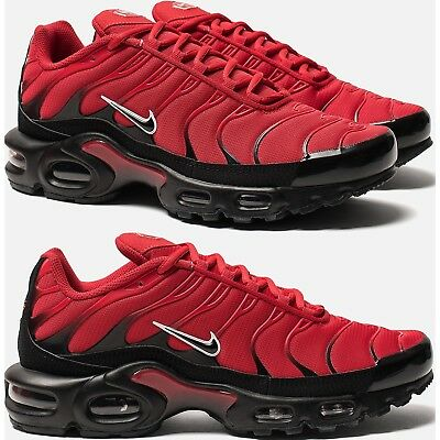 new product 99084 e8973 Nike Air Max Plus Tn Men s Shoes Lifestyle Premium Comfy Sneakers Red Black