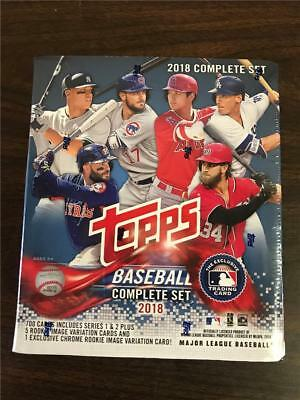 2018 Topps Baseball Complete Set 700 Cards Plus 5 Rookie And 1 Chrome Variation