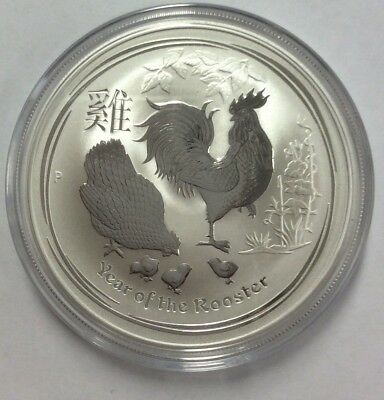 2017 Rooster  1oz  999 silver coin