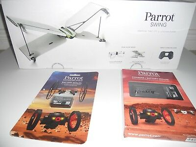 Parrot Swing Mini Drone with Flypad Controller + charger + (2) spare batteries