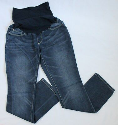 Oh Baby by Motherhood Maternity Womens Size S Denim Blue Jeans Belly Panel