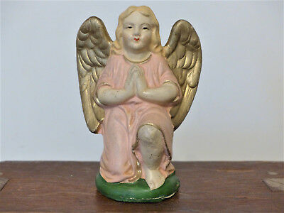 ANTIQUE Vintage LARGE GERMAN Nativity ANGEL Christmas NATIVITY Putz  #3