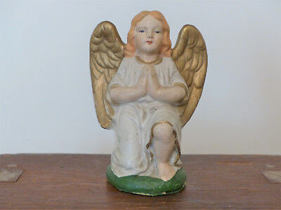 ANTIQUE Vintage LARGE GERMAN Nativity ANGEL Christmas NATIVITY Putz  #2