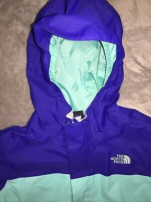 Girls The North Face Light Jacket Size 5/6 Kids Coat EUC Double Zippered Front