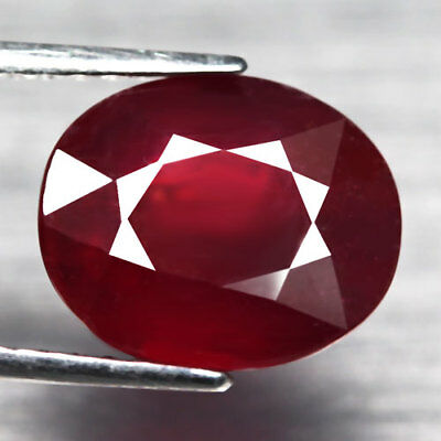 7.99Ct.Interesting! Big! Oval Facet Top Blood Red Color Natural Ruby Madagascar