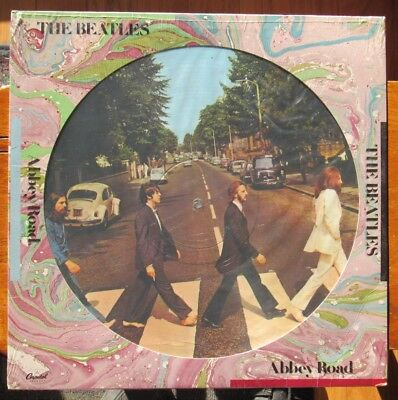 The Beatles Abbey Road Picture Disc Capitol 11910 Long Play 1978 Issue Sealed