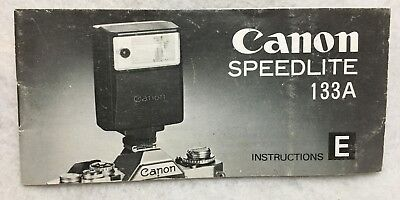 Vintage OEM Genuine Canon Speedlite 133A Instruction Manual Guide Book English