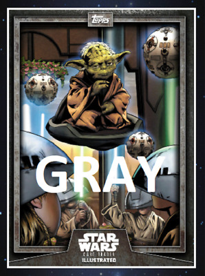 Topps Star Wars Card Trader Illustrated Cti S6 2019 Yoda Gray