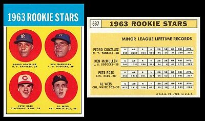 Lot Of 25 Reprint 1963 Topps 537 Pete Rose Rookie Reds