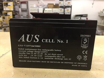 1 x 12v 7AH Rechargeable Alarm Battery-Excellent Quality and Reliability.