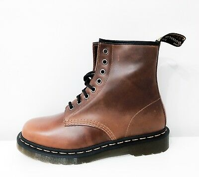 406dcdc2ced NEW Dr. Martens 1460 8 E. Butterscotch Orleans WP Shoes Leather Boots