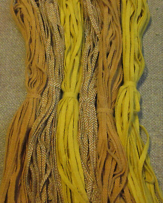 #6 Gold Rush 150 Wool Strips for Primitive Rug Hooking