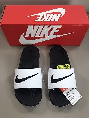 Nike Kawa Kids Slide Sandal White Black Youth CHOOSE SIZE