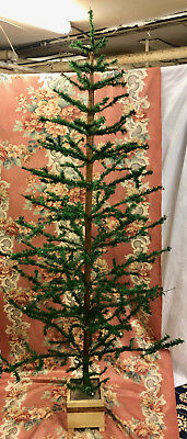 Rare Antique German Goose Feather Christmas Tree 7 Foot TALL!! WOW