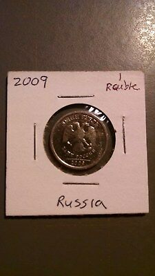 world coins, Russia, 2009, 1 ruble