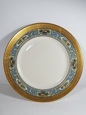 """RARE Lenox Autumn Charger Wide Gold Band Dinner Plate 10 1/2"""""""