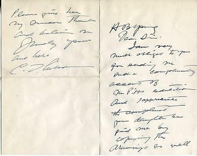 Charles Dana Gibson Autograph Graphic Artist Created Gibson Girl Signed Letter