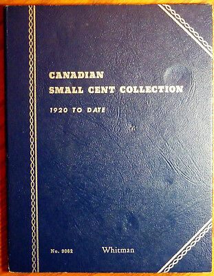39 Circulated Canadian One Cent Coins in Whitman Folder