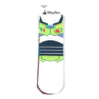 Disney Parks Buzz Lightyear and Woody Socks Set Youth Size Small White Brown