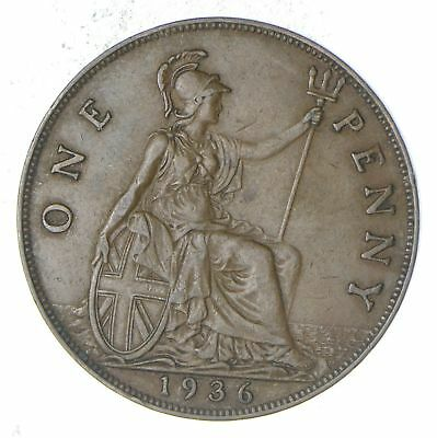 1936 Great Britain 1 Penny - Historic World Coin *785