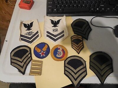 Old Ww2 Patch Lot Estate Military Army Navy 3Rd Vintage Original