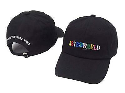 Travis Scott ASTROWORLD Embroidery Dad Hat Baseball Cap 100% Cotton 2019