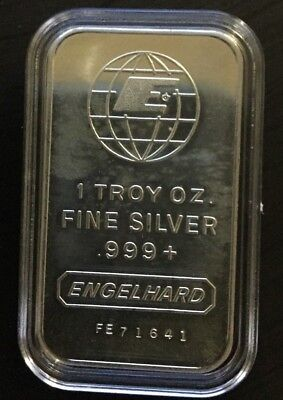 1 oz silver bar 999+ENGELHART -MINT- aged  ,(special sale!!!!)buy now