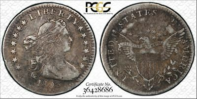 1803 H10C Draped Bust Half Dime Small 3 VF-30 PCGS, Only 30 Estimated to Exist!