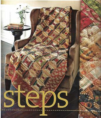 "Small Steps quilt kit 13 1/2 yds of fabric 69 1/2"" square courthouse step block"