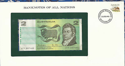 Banknotes of All Nations Australia 2 Dollars 1979 P43c AUNC Knight/Stone JTY*