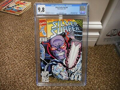 Silver Surfer 59 cgc 9.8 Infinity Gauntlet crossover Thanos cover Avengers War