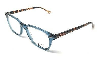 b3d0cfc89598b New Ray Ban Rb 7119 8024 Striped Brown   Blue Authentic Eyeglasses Frame  53-17