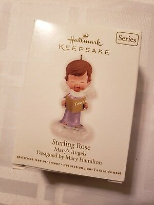 2012 Hallmark Ornament  Sterling Rose   Mary's Angels  #25