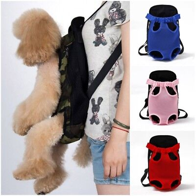 Pet Dog Travel Carrier Backpack Puppy Cat Adjustable Legs Out Front Bag US