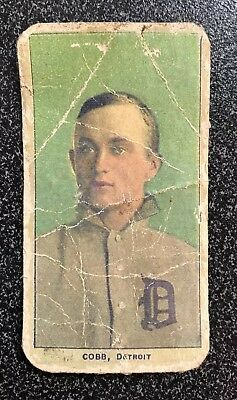 1909-11 T206 Ty Cobb Card,Portrait,Green Background,ungraded