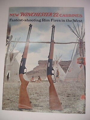 VINTAGE Winchester 22 carbines model 190 150 Paper Poster Advertising Sign