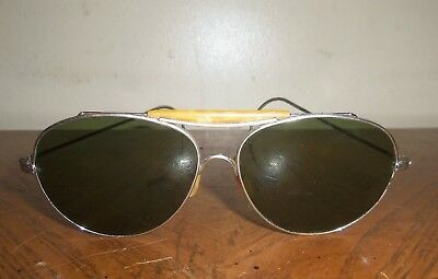 Vintage 1950's  Ray-Ban Aviator Sunglasses  Old