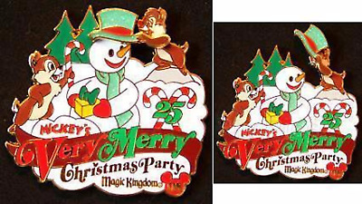 Disney Pin 66343 WDW Mickey's Very Merry Christmas Party 2008 Chip and Dale LE *
