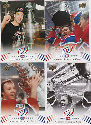 2008-09 UD Montreal Canadiens Centenial Base Card You Pick a Player lot