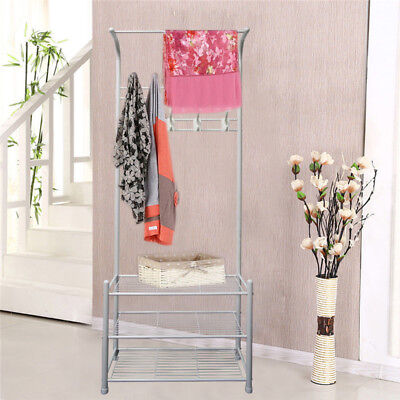 Clothes Airer Drying Rack Storage Stand Portable Coat Hanger Hat Shoe