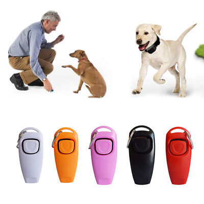 Cute Dog Clicker Whistle Training,Obedience,Pet Trainer Click Puppy With Guide A