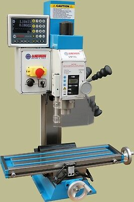 Weiss VM-18L Bench top milling machine  Brushless w/D.R.O. New in box w/ extras