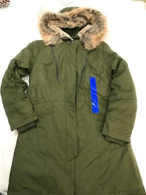 682902953 NEW 1 MADISON Expedition Ladies' Parka Coat Faux Fur Hood Jacket, Army  Olive, L