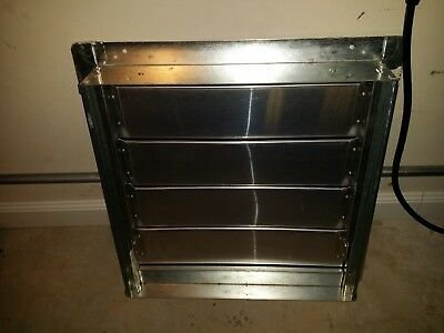 19 x 19 HVAC Backdraft Damper / Wall Vent / Exhaust Vent with Frame