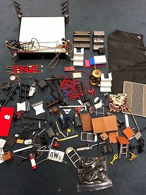 Jakks Mattel Pacific WWE TNA WCW Action Figure Lot accessories chair table ring