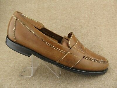 a7413dd80db COLE HAAN DOUGLAS Penny Loafers 01462 Saddle Tan Leather Mens 10 M ...