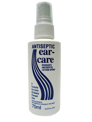 New Ear Care Antiseptic Spray 75mL Antiseptic Lotion Spray for Newly Pierced Ear