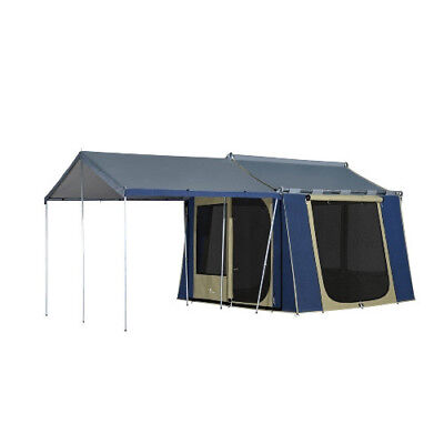 Oztrail 10 x 8 Canvas Cabin 5 Person Camping Tent Outdoor Shelter