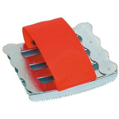 NEW Metal Horse Dog grooming massage curry comb with hand strap